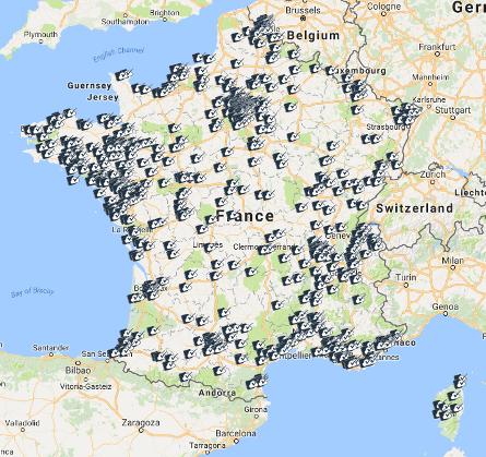 Carte de France des inscrits