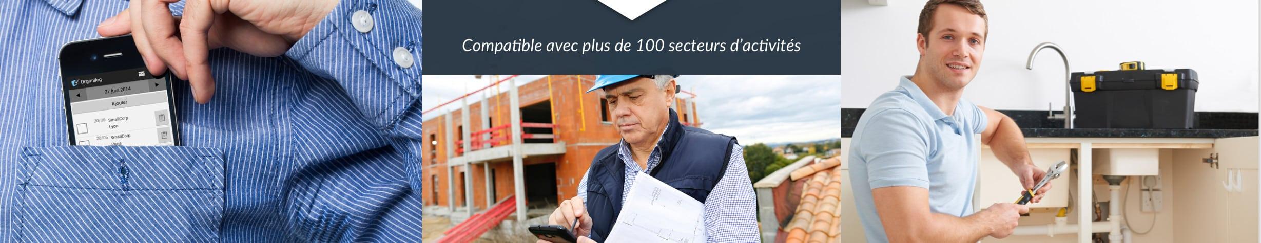 Organilog est compatible avec plus de 100 secteurs d'activités
