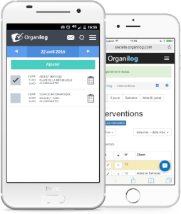 Application mobile et responsive pour la gestion des interventions