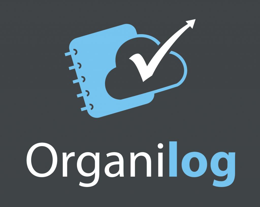 Logo Organilog sur fond sombre