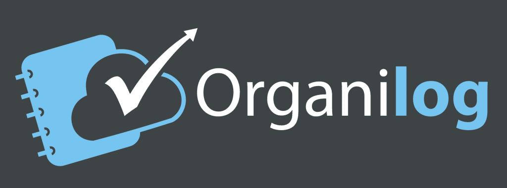 Logo Organilog fond sombre (icône à gauche)