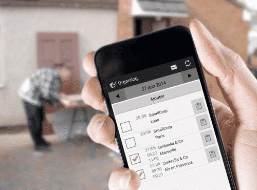Application mobile Organilog pour les sociétés de services
