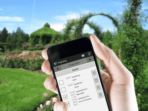 Application mobile Organilog pour les paysagistes