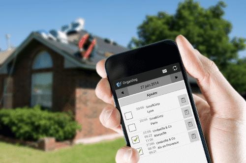 Application mobile Organilog pour les couvreurs ou charpentiers