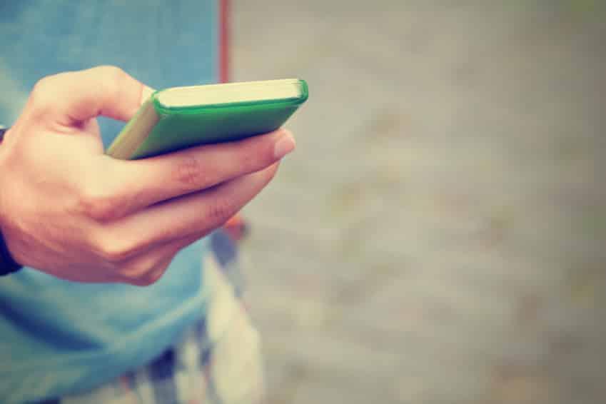 Utilisation d'un smartphone