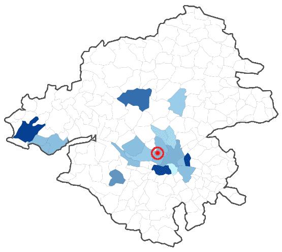 Répartition du temps passé dans les villes de Loire Atlantique (44)