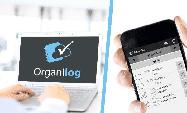 Interface Organilog sur ordinateur et smartphone