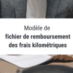 Modèle de fichier de remboursement des frais kilométriques