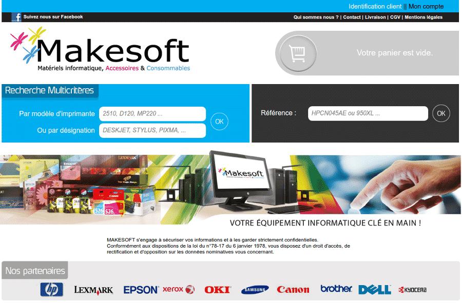 Aperçu site web Makesoft