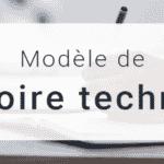 Modèle de Mémoire Technique à Télécharger (gratuit)